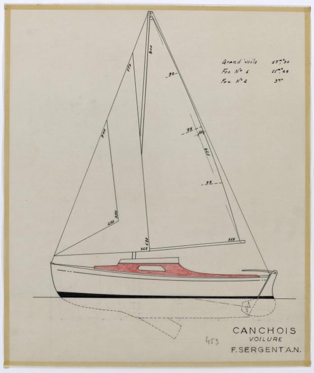 PLAN DE VOILURE/GREEMENT - CANCHOIS (1956)