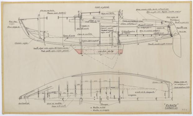 PLAN DE CONSTRUCTION - PIRATE 5,75 m (1956)