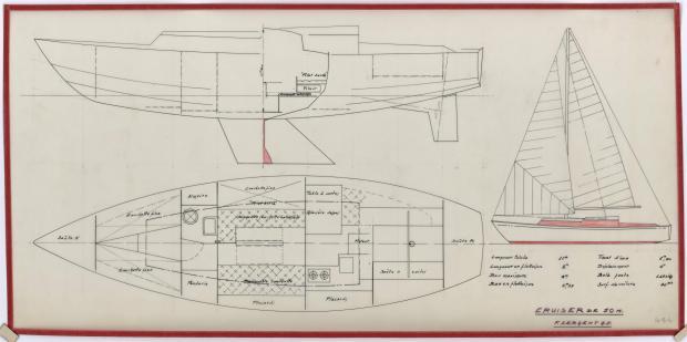 PLAN GENERAL - CRUISER de 10 m (1956)