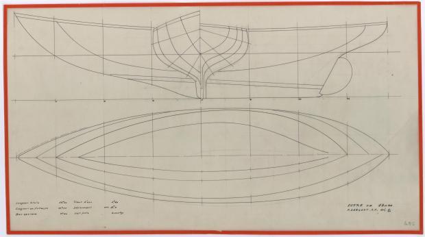 PLAN DE COQUE - CRUISER  13,50 M (1956)