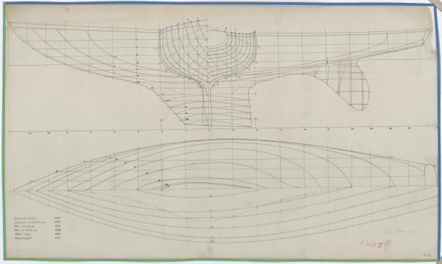 PLAN DE COQUE - ELOISE II (1957)