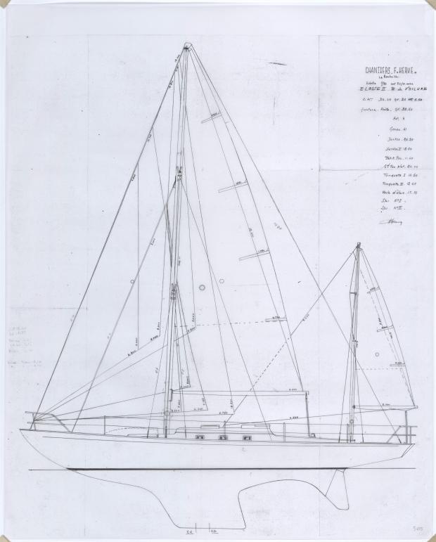 PLAN DE VOILURE/GREEMENT - ELOISE II (1957)