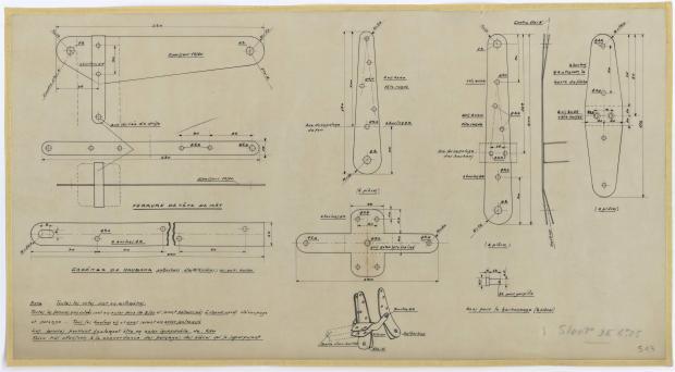 PLAN DE VOILURE/GREEMENT - DENTY SLOOP  6,25 m (1957)