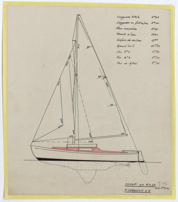 PLAN GENERAL - DENTY SLOOP  6,25 m (1957)
