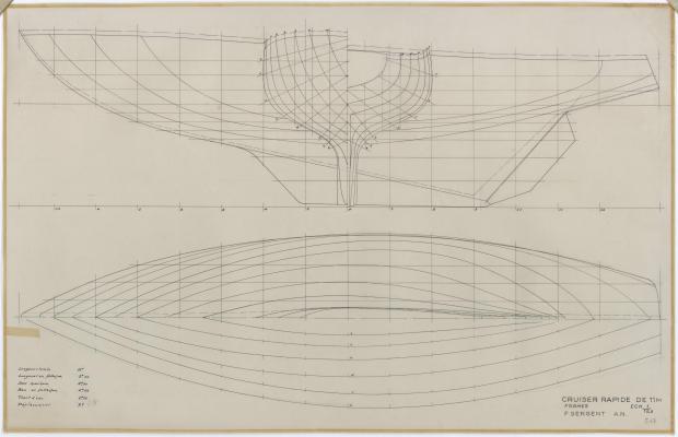PLAN DE COQUE - IRIS CRUISER RAPIDE 11 m (1957)