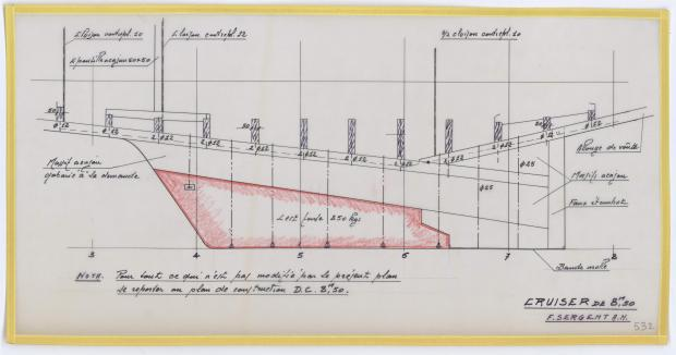 PLAN DE CONSTRUCTION - DEJA   CRUISER 8,50 m (1957)