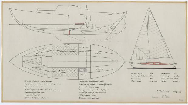 PLAN GENERAL - DEJA   CRUISER 8,50 m (1957)