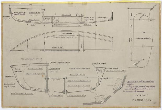 PLAN DE CONSTRUCTION - NORDET 4,20 m (1957)