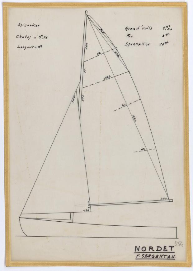 PLAN DE VOILURE/GREEMENT - NORDET 4,20 m (1957)