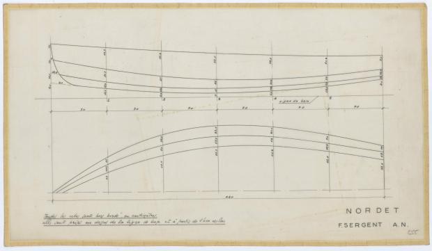 PLAN DE COQUE - NORDET 4,20 m (1957)