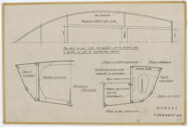 PLAN DE CONSTRUCTION - NORDET 4,20 m (1957)