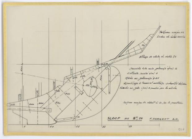 PLAN DE CONSTRUCTION - SLOOP 8,75 M (1957)