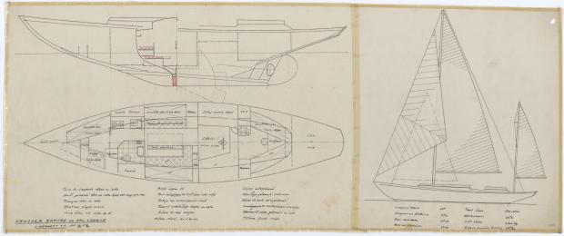 PLAN D'AMENAGEMENT  - AOUFFA II 14 m   (1958)