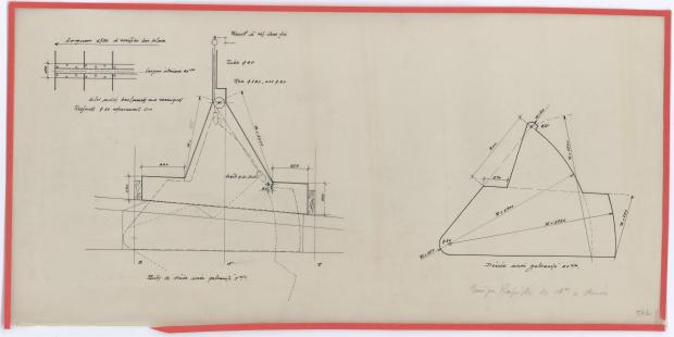 PLAN DE DERIVE/QUILLE - AOUFFA II 14 m   (1958)