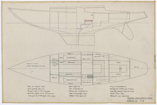 PLAN D'AMENAGEMENT  - COURSE CROISIERE DE 12,25 M (1958)