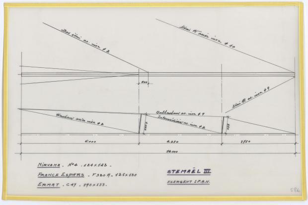 PLAN DE VOILURE/GREEMENT - STEMAEL III,  (1958)