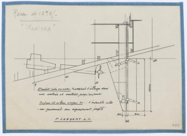 PLAN DE CONSTRUCTION - MARITEA  RACER DE 12,25 M (1958)