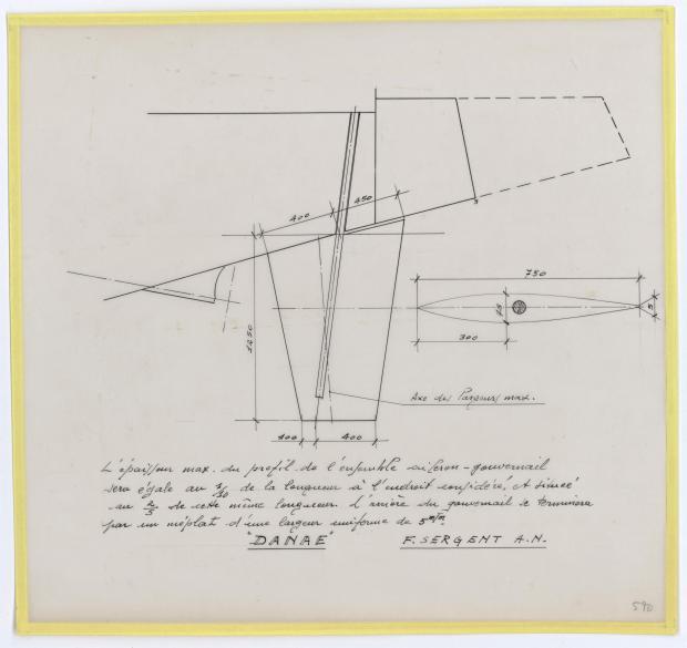 PLAN DE CONSTRUCTION - DANAE  (1958)