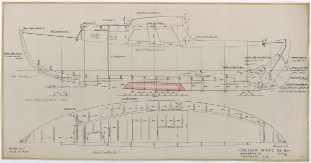 PLAN DE CONSTRUCTION - CRUISER MIXTE DE 8 M (1958)