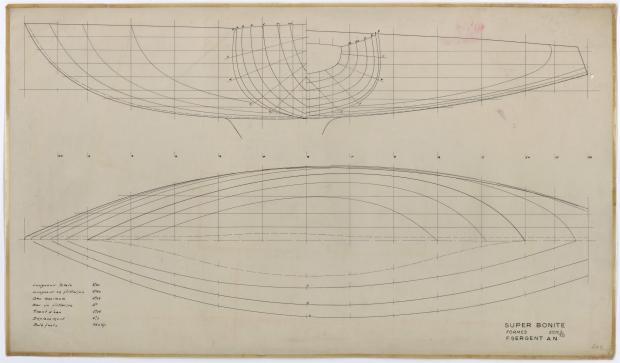 PLAN DE COQUE - SUPER BONITE 8,50 m (1959)