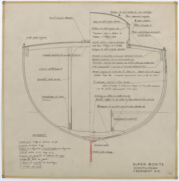 PLAN DE CONSTRUCTION - SUPER BONITE 8,50 m (1959)