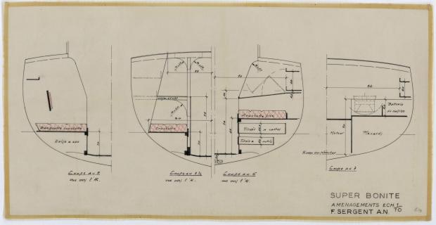 PLAN D'AMENAGEMENT  - SUPER BONITE 8,50 m (1959)