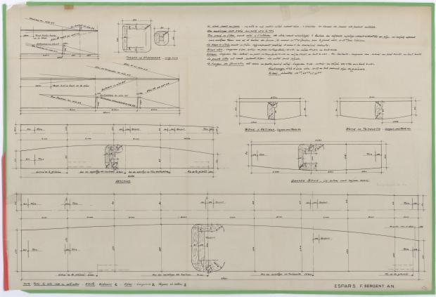 PLAN DE VOILURE/GREEMENT - CRUISER RAPIDE DE 13,75 m à dérive (1959)