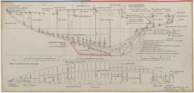 PLAN DE CONSTRUCTION - BIMBAM CRUISER RAPIDE DE 12 m (1959)