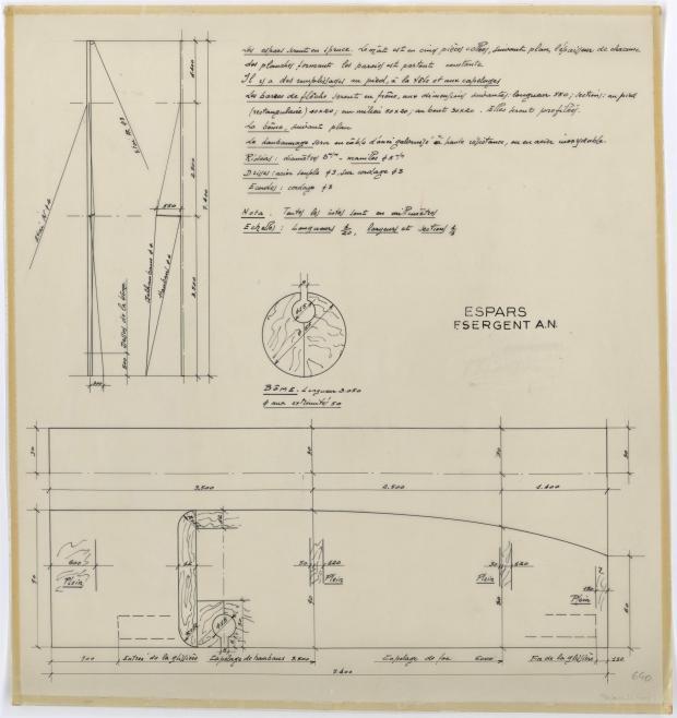PLAN DE VOILURE/GREEMENT - DORADE (1959)