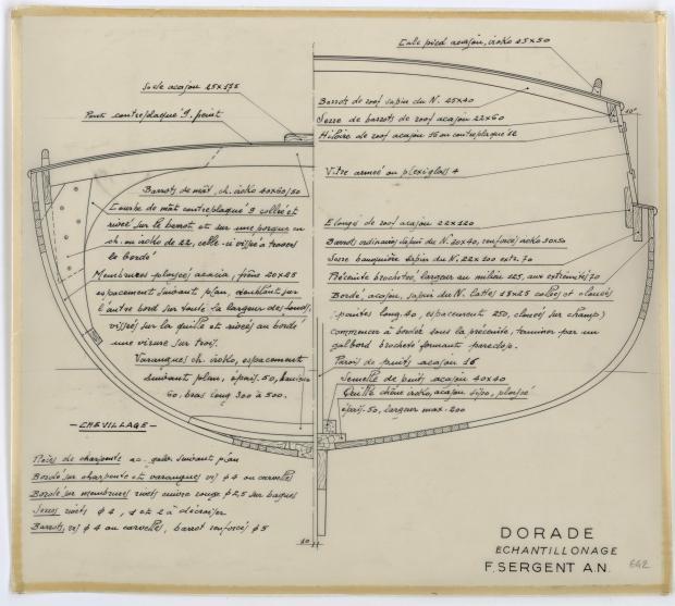 PLAN DE CONSTRUCTION - DORADE (1959)