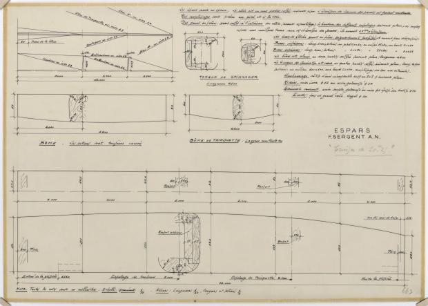 PLAN DE VOILURE/GREEMENT - TALLY-HO CRUISER 10,25 m  (1960)
