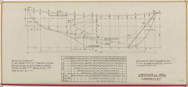 PLAN DE CONSTRUCTION - TALLY-HO CRUISER 10,25 m  (1960)