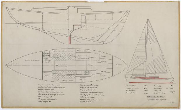 PLAN GENERAL - TALLY-HO CRUISER 10,25 m  (1960)