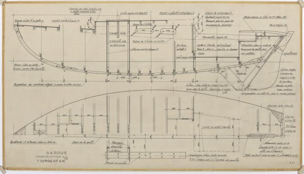 PLAN DE CONSTRUCTION - SARGUE    (1960)