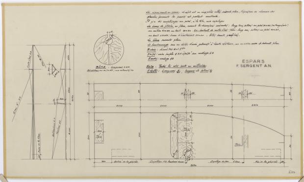 PLAN DE VOILURE/GREEMENT - SARGUE    (1960)