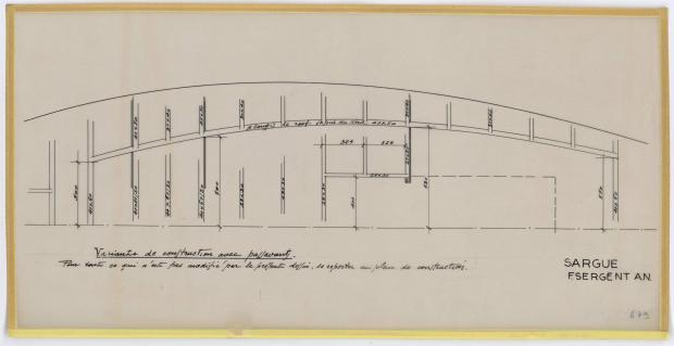 PLAN DE CONSTRUCTION - SARGUE    (1960)