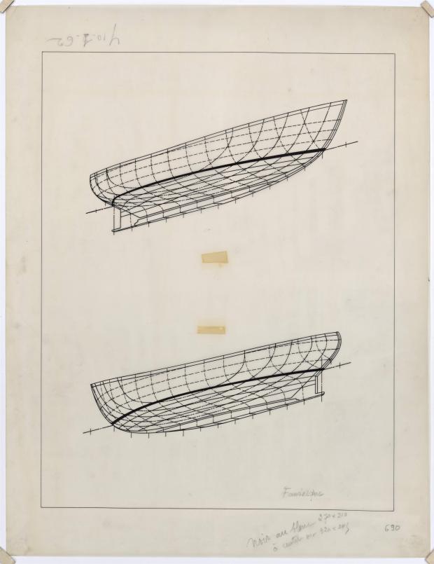 PLAN DE COQUE - FANTASQUE MOTOR SAILOR  10,50 m (1960)