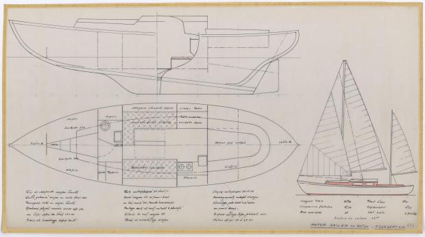 PLAN GENERAL - FANTASQUE MOTOR SAILOR  10,50 m (1960)