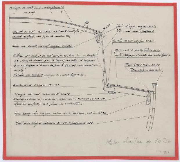 PLAN DE CONSTRUCTION - FANTASQUE MOTOR SAILOR  10,50 m (1960)