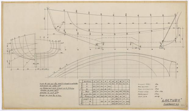 PLAN DE COQUE - LOCTUDY  5,20 m (1960)