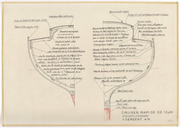 PLAN DE CONSTRUCTION - VARNA,DORIS, MISTRAL CRUISER RAPIDE 12,20 m (1960)