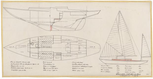 PLAN GENERAL - VARNA,DORIS, MISTRAL CRUISER RAPIDE 12,20 m (1960)