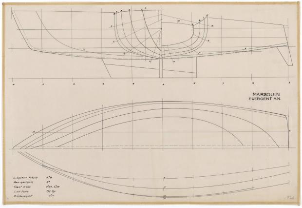 PLAN DE COQUE - MARSOUIN  5,90 m (1960)