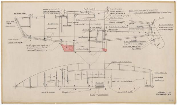PLAN DE CONSTRUCTION - MARSOUIN  5,90 m (1960)