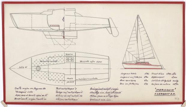 PLAN GENERAL - MARSOUIN  5,90 m (1960)