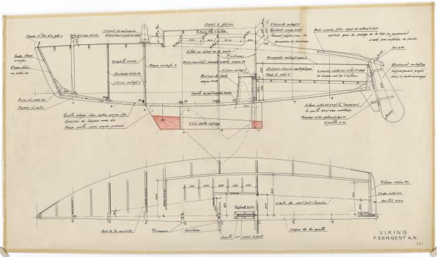 PLAN DE CONSTRUCTION - VICKING  5,90 m (1960)