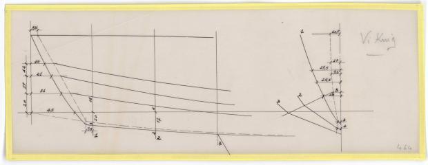 PLAN DE COQUE - VICKING  5,90 m (1960)