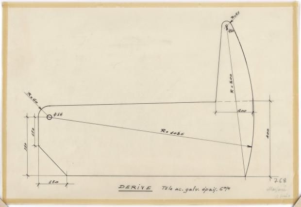 PLAN DE DERIVE/QUILLE - VICKING  5,90 m (1960)