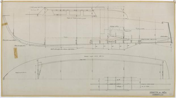 PLAN DE CONSTRUCTION - VEDETTE 10,75 m (1961)