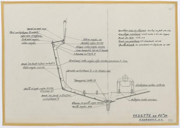 PLAN DE CONSTRUCTION - VEDETTE 10,75 m (1961)